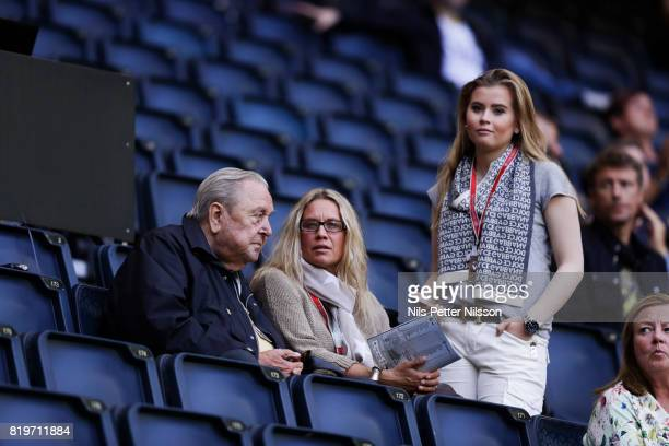 Lennart Johansson former chairman of UEFA during the UEFA Europa League qualifying match between AIK and FK Zeljeznicar at Friends arena on July 20...