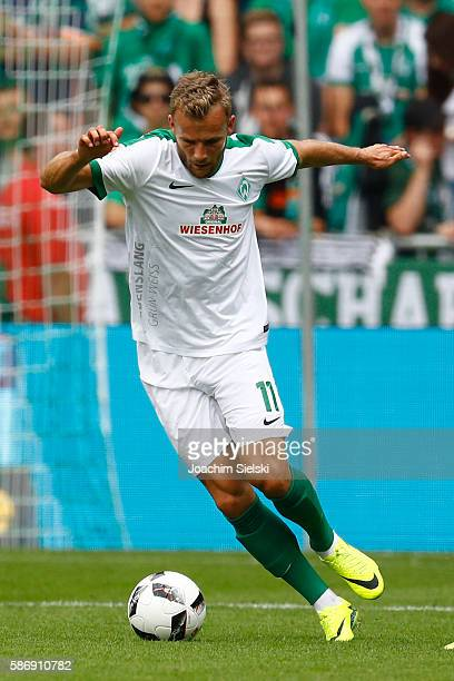 Lennart Thy of Bremen during the preseason friendly match between Werder Bremen and FC Chelsea at Weserstadion on August 7 2016 in Bremen Germany