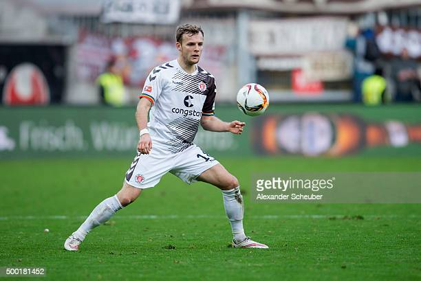 Lennart Thy of FC St Pauli during the second Bundesliga match between 1 FC Kaiserslautern and FC St Pauli at FritzWalter Stadion on December 6 2015...