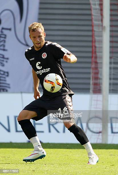 Lennart Thy of St Pauli during the Second League match between RB Leipzig and FC StPauli at RedBull Arena on August 23 2015 in Leipzig Germany