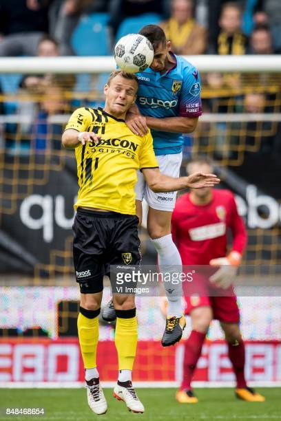 Lennart Thy of VVV Matt Miazga of Vitesse during the Dutch Eredivisie match between Vitesse Arnhem and VVV Venlo at Gelredome on September 17 2017 in...