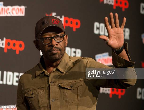 Lennie James attends The Walking Dead panel at The Theater at Madison Square Garden during Comic Con 2017