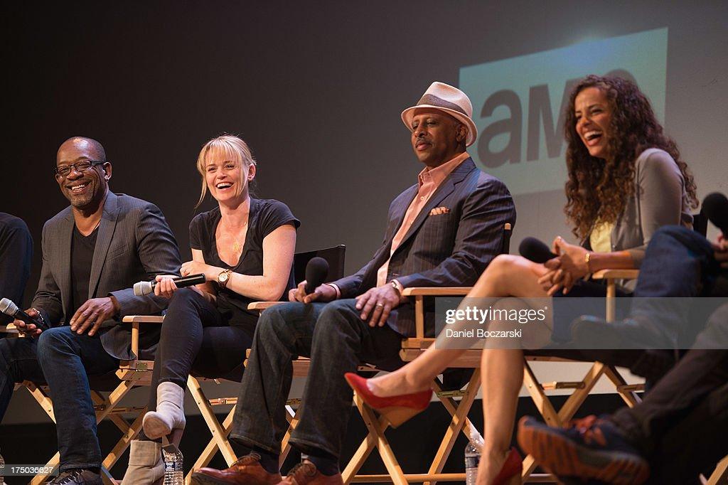 Lennie James Sprague Grayden Ruben SantiagoHudson and Athena Karkanis attend AMC's 'Low Winter Sun' cast QA with Art House Convergence on July 29...