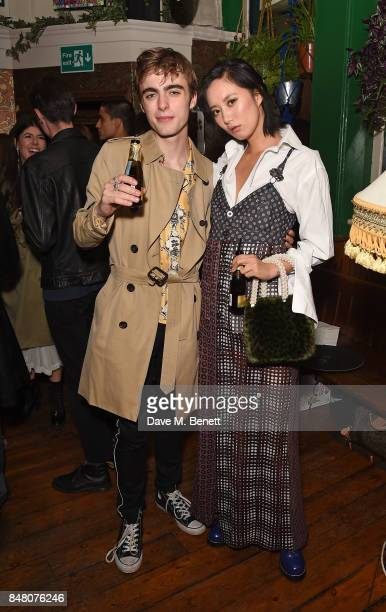 Lennon Gallagher and Betty Bachz celebrate Burberrys September collection and the Dazed Burberry cover shot by Angelo Penetta during London Fashion...