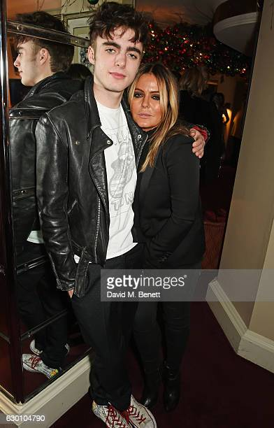 Lennon Gallagher and Patsy Kensit attend the LOVE Christmas Party hosted by Katie Grand and Poppy Delevingne at George on December 16 2016 in London...