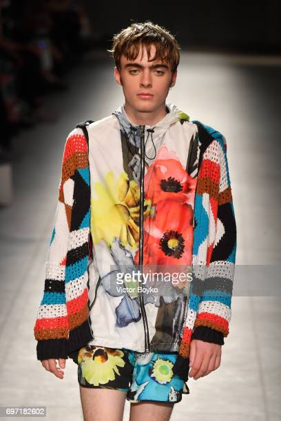 Lennon Gallagher walks the runway at the MSGM show during Milan Men's Fashion Week Spring/Summer 2018 on June 18 2017 in Milan Italy