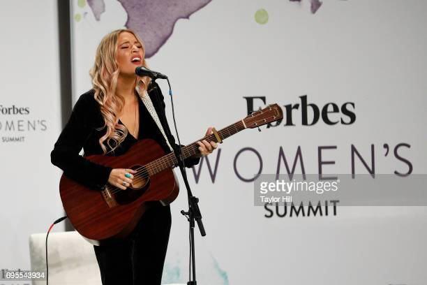 Lennon Maisy perform during the 2017 Forbes Women's Summit at Spring Studios on June 13 2017 in New York City