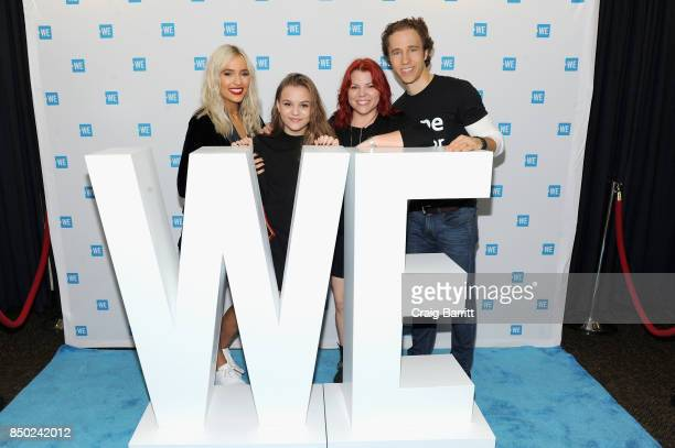 Lennon Ray Louise Stella Maisy Jude Marion Stella and Craig Kielbrunner attend the WE Day UN at The Theater at Madison Square Garden on September 20...