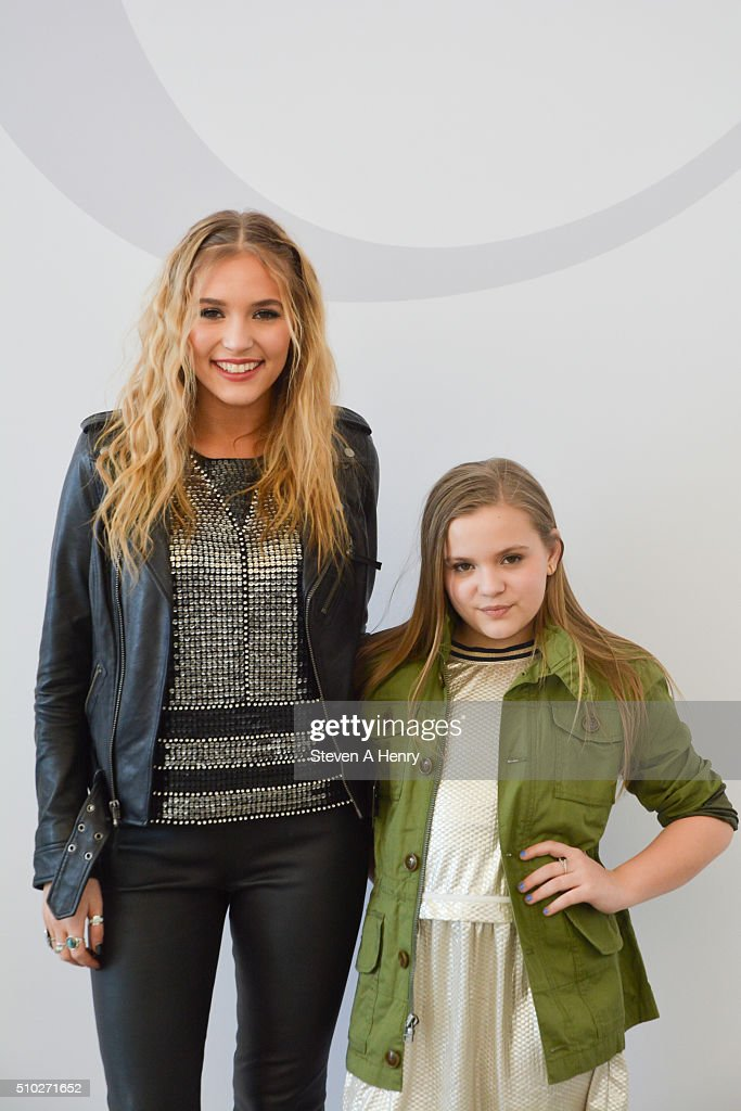 Lennon Stella and Maisy Stella attend J. Crew Presentation Fall 2016 at Spring Studios on February 14, 2016 in New York City.