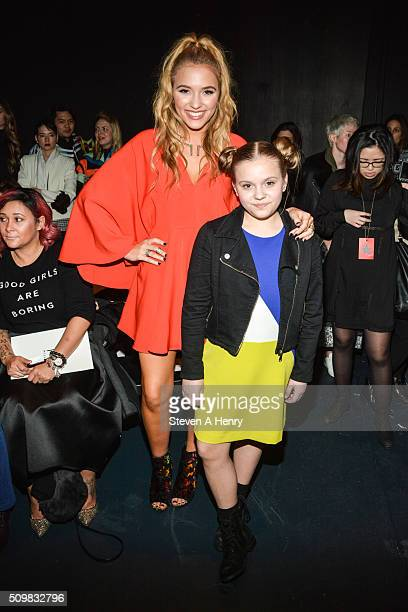 Lennon Stella and Maisy Stella attend Milly Fall 2016 at Pier 59 on February 12 2016 in New York City