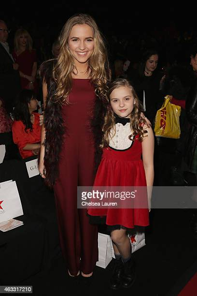 Lennon Stella and Maisy Stella attend the Go Red For Women Red Dress Collection 2015 presented by Macy's fashion show during MercedesBenz Fashion...