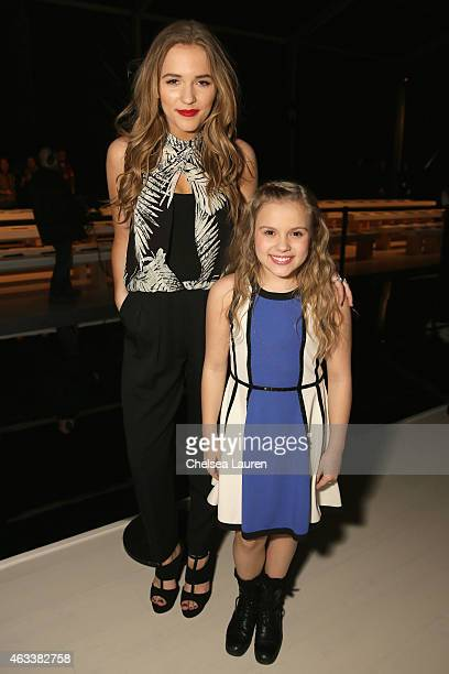 Lennon Stella and Maisy Stella attend the Nicole Miller fashion show during MercedesBenz Fashion Week Fall 2015 at The Salon at Lincoln Center on...