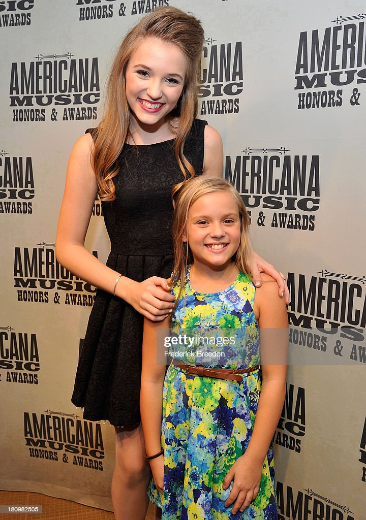 Lennon Stella and Maisy Stella backstage at the 12th Annual Americana Music Honors And Awards Ceremony Presented By Nissan on September 18, 2013 in Nashville, Tennessee.