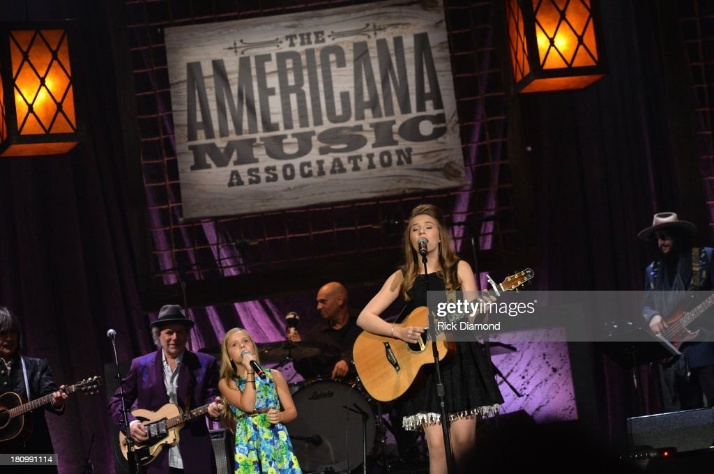 Lennon Stella and Maisy Stella of The Stellas perform at the 12th Annual Americana Music Honors And Awards Ceremony Presented By Nissan on September 18, 2013 in Nashville, Tennessee.