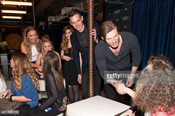 Lennon Stella Maisy Stella Aubrey Peeples Sam Palladio and Chris Carmack greet fans during the 'Nashville' Tour at The Beacon Theatre on April 29...