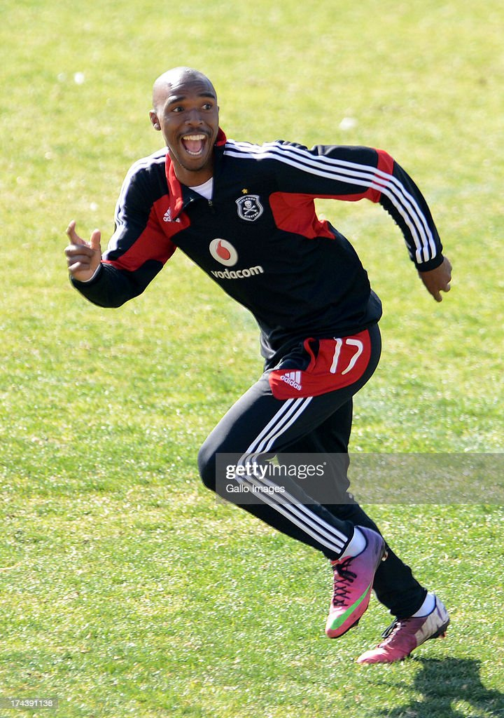 Lennox Bacela during the Orlando Pirates media open day at Rand Stadium on July 25, 2013 in Johanesburg, South Africa.