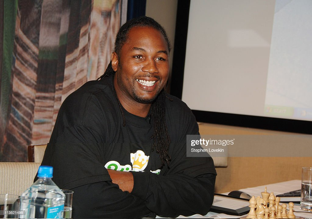 <a gi-track='captionPersonalityLinkClicked' href=/galleries/search?phrase=Lennox+Lewis&family=editorial&specificpeople=202865 ng-click='$event.stopPropagation()'>Lennox Lewis</a> during <a gi-track='captionPersonalityLinkClicked' href=/galleries/search?phrase=Lennox+Lewis&family=editorial&specificpeople=202865 ng-click='$event.stopPropagation()'>Lennox Lewis</a> at Kin.com Chesster Tournament - Screening and Cocktail Reception at The Core Club in New York City, NY, United States.