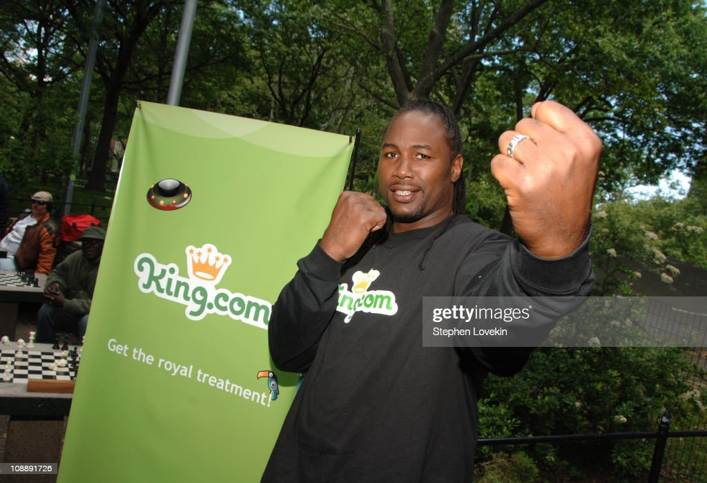 <a gi-track='captionPersonalityLinkClicked' href=/galleries/search?phrase=Lennox+Lewis&family=editorial&specificpeople=202865 ng-click='$event.stopPropagation()'>Lennox Lewis</a> during <a gi-track='captionPersonalityLinkClicked' href=/galleries/search?phrase=Lennox+Lewis&family=editorial&specificpeople=202865 ng-click='$event.stopPropagation()'>Lennox Lewis</a> at King.com Chesster Tournament at Washington Square Park in New York City, New York, United States.