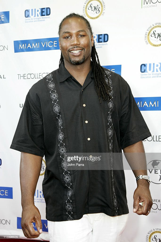 <a gi-track='captionPersonalityLinkClicked' href=/galleries/search?phrase=Lennox+Lewis&family=editorial&specificpeople=202865 ng-click='$event.stopPropagation()'>Lennox Lewis</a> during 'Miami Vice' Miami Premiere - Arrivals at Lincoln Theatre in South Beach, Florida, United States.