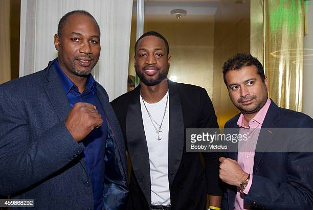 Lennox Lewis Dwyane Wade and Kamal Hotchandani attend Haute Living and The Webster event hosted by Dwyane Wade and footwear desinger Alejandro...