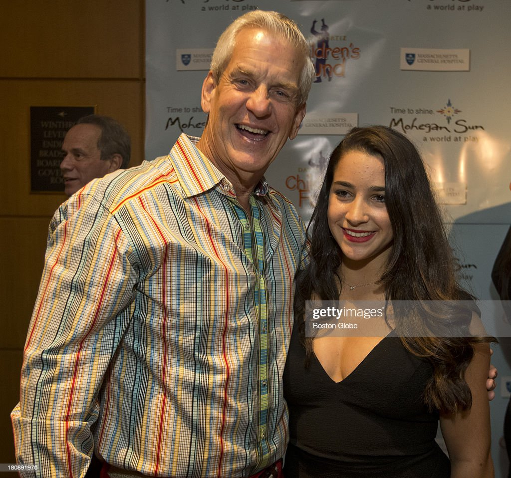 Lenny Clarke and Aly Raisman during the David Ortiz Children's Fund Gala at the Four Seasons Hotel on Monday, Sept. 16, 2013.