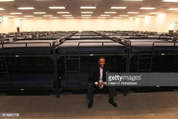 DENVER CO NOVEMBER 15 Lenny Ford Supervisor of Shelter Emergency Services checks out the 200 new beds available at the new homeless shelter for men...
