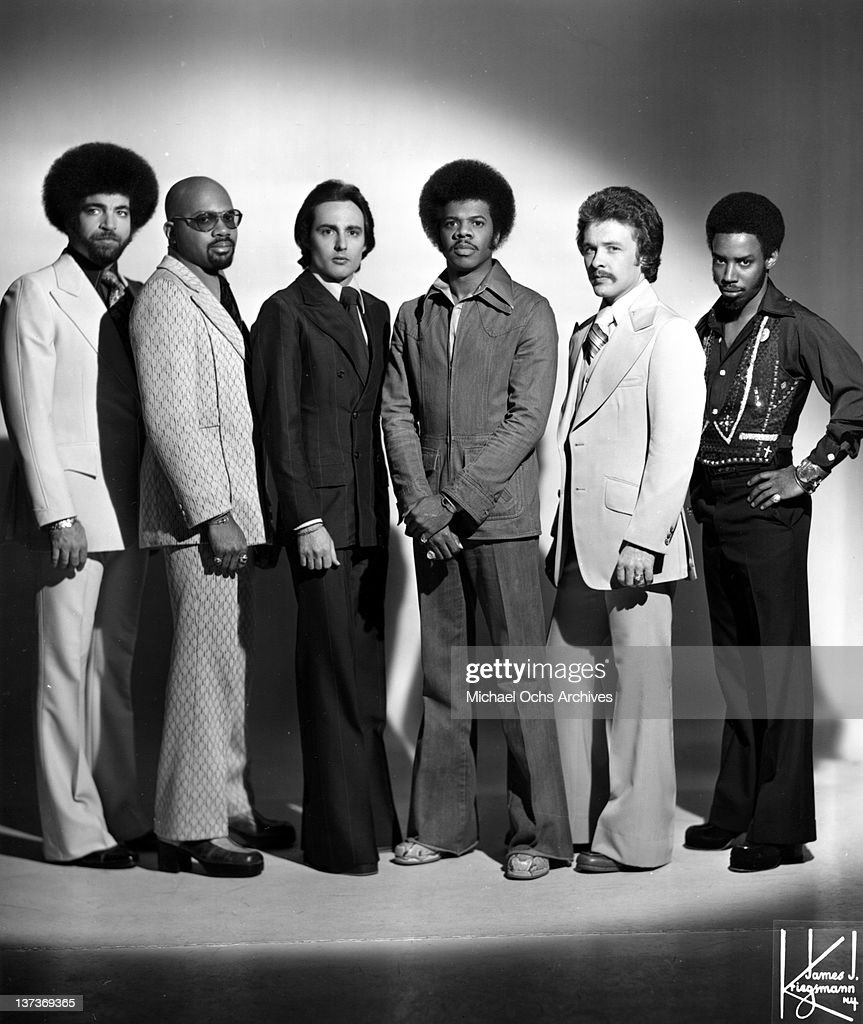 Lenny Fridie, Jr., Gerry Thomas, Paul Forney, Jimmy Castor, Jeff Grimes, ad Ellwood Henderson, Jr. of the funk group 'The Jimmy Castor Bunch' pose for a portrairt session in circa 1977 in New York City, New York.
