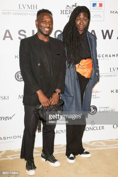 Lenny Guerrier and Kadiata Diallo attend the 'ANDAM 2017' Prizewinner cocktail at Ministere de la Culture on June 30 2017 in Paris France