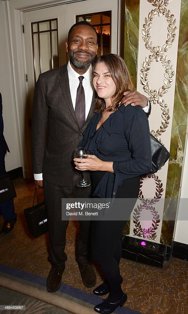 Lenny Henry and Tracey Emin attend the South Bank Sky Arts awards at the Dorchester Hotel on January 27 2014 in London England