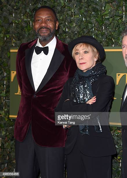 Lenny Henry and Zoe Wanamaker attend the Evening Standard Theatre Awards at The Old Vic Theatre on November 22 2015 in London England