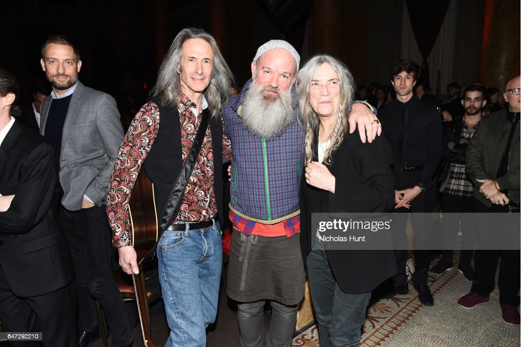 Lenny Kaye, Michael Stipe and Patti Smith attend The Anthology Film Archives Benefit and Auction on March 2, 2017 in New York City.