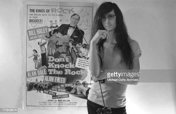 Lenny Kaye of the Patti Smith Group poses for a portrait in November 1974 in Los Angeles California