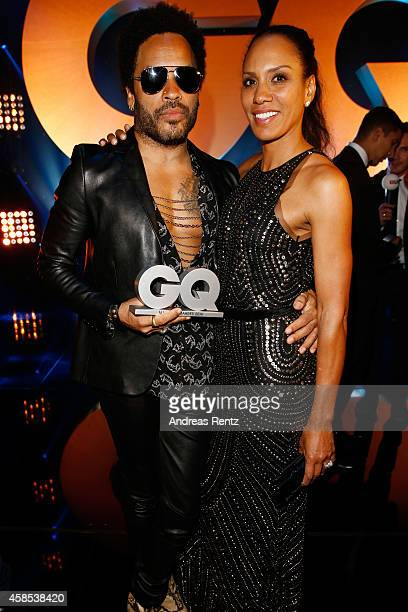 Lenny Kravitz and Barbara Becker are seen on stage at the GQ Men Of The Year Award 2014 at Komische Oper on November 6 2014 in Berlin Germany