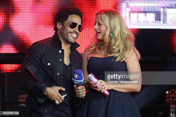 Lenny Kravitz and Barbara Schoeneberger are seen during the SWR3 New Pop Festival 'Das Special' at Festspielhaus on September 13 2014 in BadenBaden...