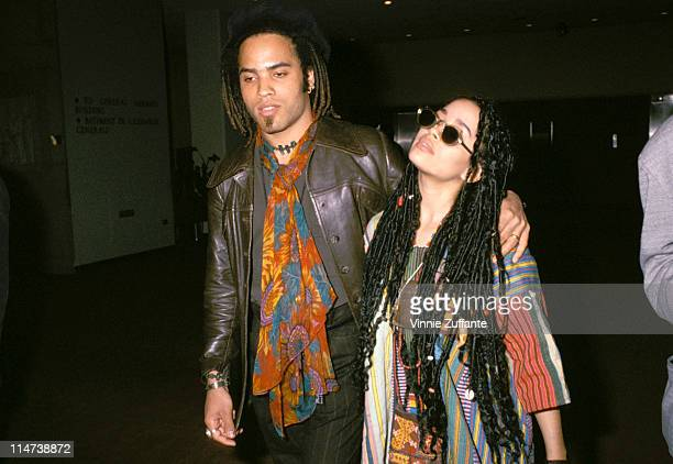Lenny Kravitz and Lisa Bonet in NYC 1987