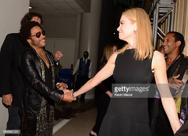 Lenny Kravitz and Nicole Kidman attend the 2013 CMT Music awards at the Bridgestone Arena on June 5 2013 in Nashville Tennessee