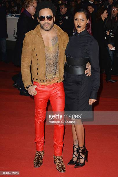 Lenny Kravitz and Shy'm arrive at the 16th NRJ Music Awards at Palais des Festivals on December 13 2014 in Cannes France
