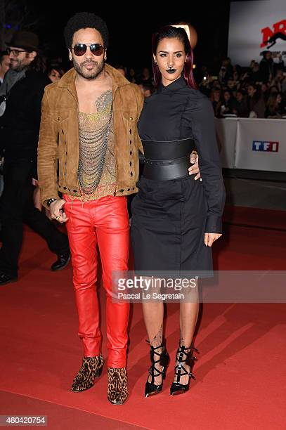 Lenny Kravitz and Shy'm attend the NRJ Music Awards at Palais des Festivals on December 13 2014 in Cannes France
