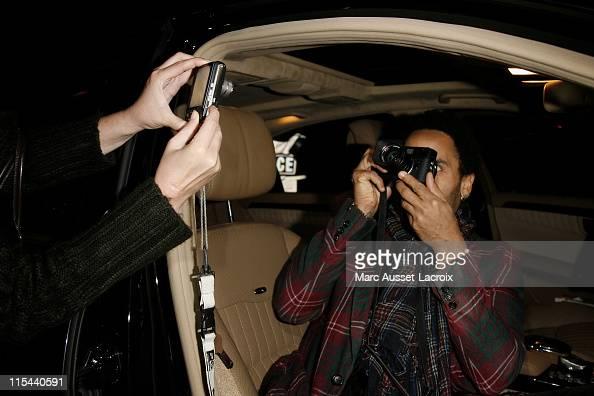 Lenny Kravitz arrive at the Patrick Demarchelier's exhibition Party on September 29 2008 in Paris France