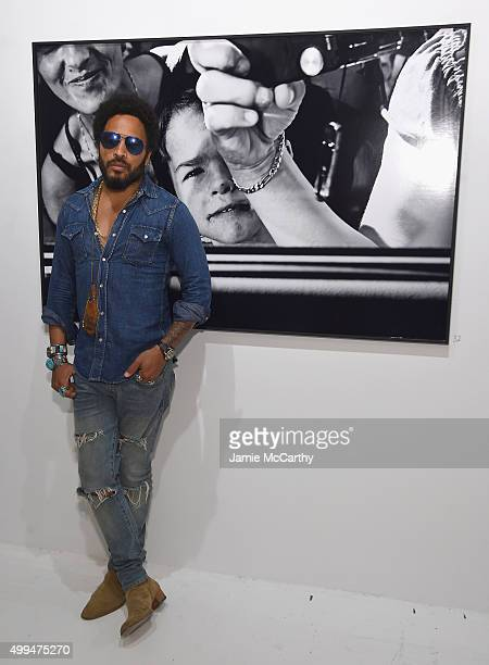 Lenny Kravitz attends Opening of Lenny Kravitz FLASH Photography Exhibition at Miami Design District on December 1 2015 in Miami Florida