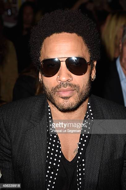 Lenny Kravitz attends the Saint Laurent show as part of the Paris Fashion Week Womenswear Spring/Summer 2015 on September 29 2014 in Paris France