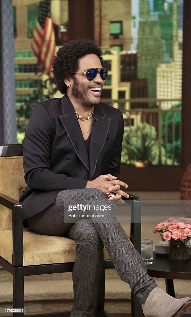 MICHAEL -8/8/13 - Lenny Kravitz is a guest on 'LIVE with Kelly and Michael,' distributed by Disney-ABC Domestic Television. LENNY