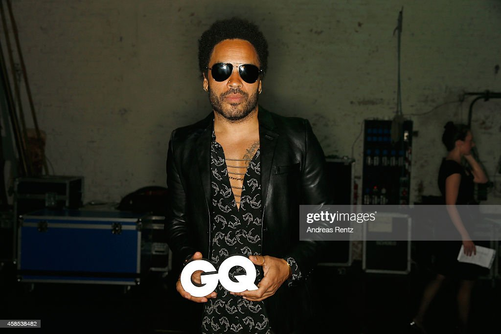 <a gi-track='captionPersonalityLinkClicked' href=/galleries/search?phrase=Lenny+Kravitz&family=editorial&specificpeople=171613 ng-click='$event.stopPropagation()'>Lenny Kravitz</a> is seen backstage at the GQ Men Of The Year Award 2014 after show party at Komische Oper on November 6, 2014 in Berlin, Germany.