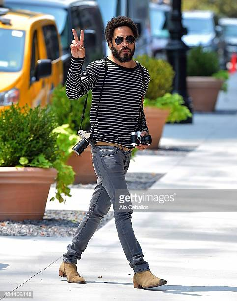 Lenny Kravitz is seen in the West Village on August 18 2015 in New York City