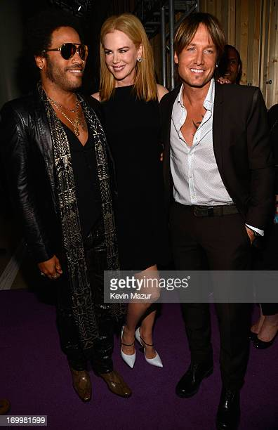 Lenny Kravitz Nicole Kidman and Keith Urban attend the 2013 CMT Music awards at the Bridgestone Arena on June 5 2013 in Nashville Tennessee