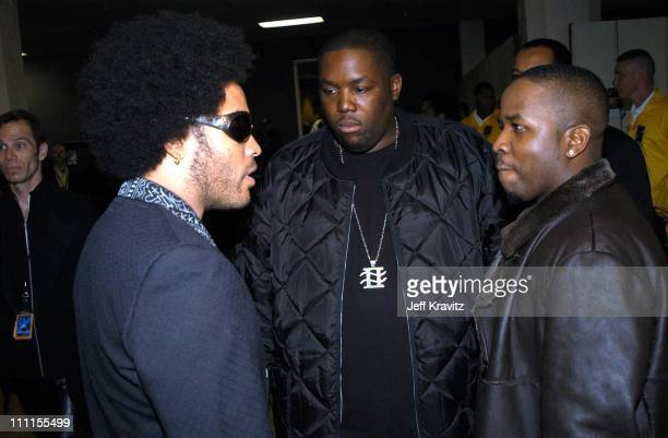 Lenny Kravitz Outkast during The 30th Annual American Music Awards Backstage Party at Shrine Auditorium in Los Angeles California United States