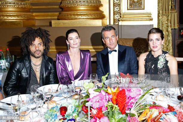 Lenny Kravitz Paris National Opera dance director Aurelie Dupont CoPresident of the Opening Gala Cyril Karaoglan and Charlotte Casiraghi attend the...