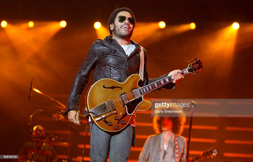 Lenny Kravitz performs at the 2009 Voodoo Experience at City Park on November 1, 2009 in New Orleans, Louisiana.