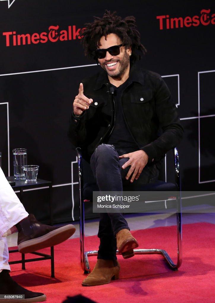 Lenny Kravitz speaks at TimesTalks Presents: Lenny Kravitz at The Times Center on February 24, 2017 in New York City.
