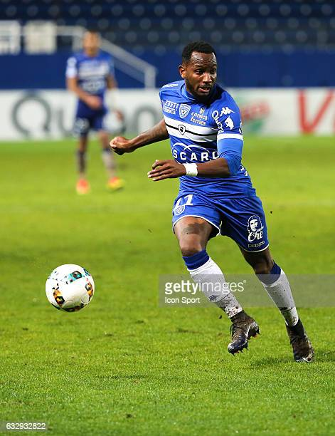 Lenny Nangis of Bastia during the French Ligue 1 match between Bastian and Caen at Stade Armand Cesari on January 28 2017 in Bastia France